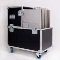 Flightcase voor 11 dansplaten