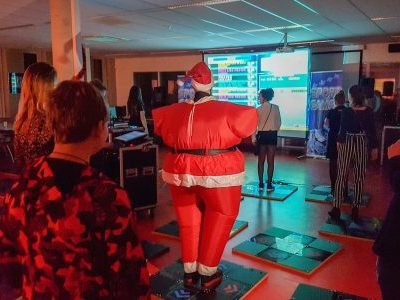 Sportgames met kerstman